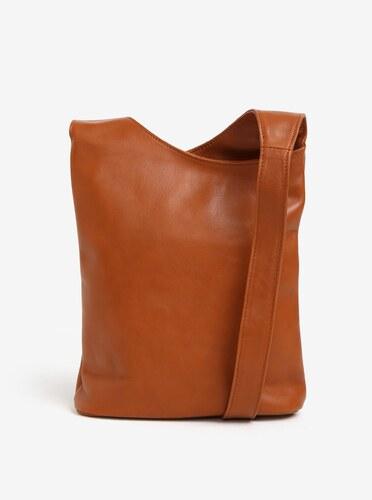 Hnedá dámska kožená crossbody kabelka KARA - Glami.sk b17418d8283