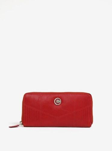 Červená dámska veľká kožená peňaženka na zips KARA - Glami.sk f0f8ab34e94