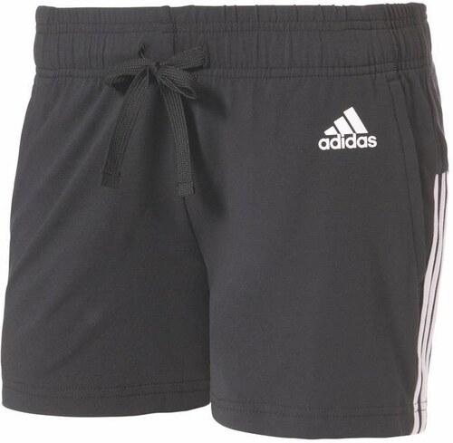 ADIDAS PERFORMANCE Sportovní kalhoty  ESSENTIALS 3 STRIPES SHORT  černá cf1df56c73