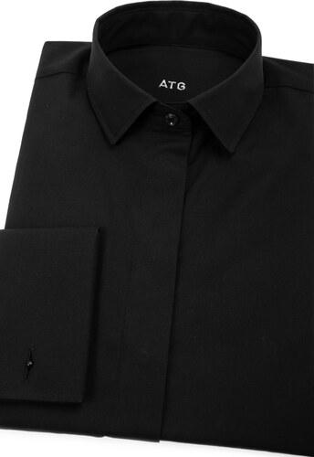 147df5023b4 Černá dámská košile na manžetové knoflíčky Avantgard 722-23-38 ...