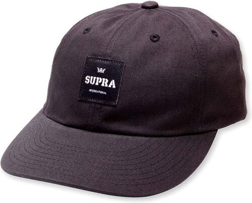kšiltovka SUPRA - Label Slider Hat Black (008) - Glami.sk 934bbcd50fb