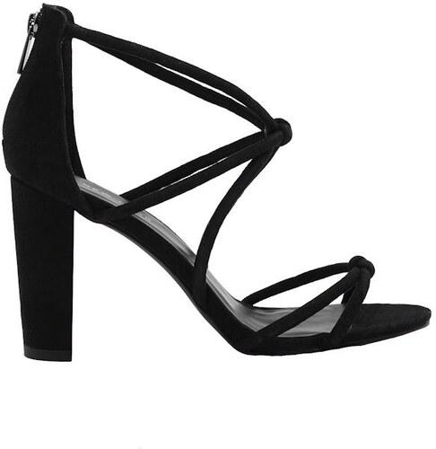 e205cfb8b4 NEW LOOK Semišové remienkové sandále na podpätku - Glami.sk