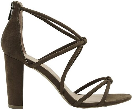 0f6a09c052e8 NEW LOOK Semišové remienkové sandále na podpätku - Glami.sk