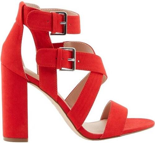 3f22d24a5c NEW LOOK Semišové remienkové sandále na vysokom podpätku - Glami.sk