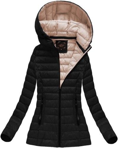 LIBLAND Dámská jarní bunda prošívaná černá (7213) - Glami.cz ce4448df9d