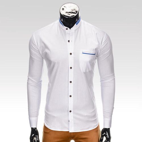 15908e1ae0e9 Ombre Clothing Pánska slim fit košeľa Root biela - Glami.sk
