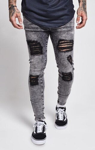 Sik Silk Ripped Jeans Skinny Grey SikSilk - Glami.cz 1c961fb7bb