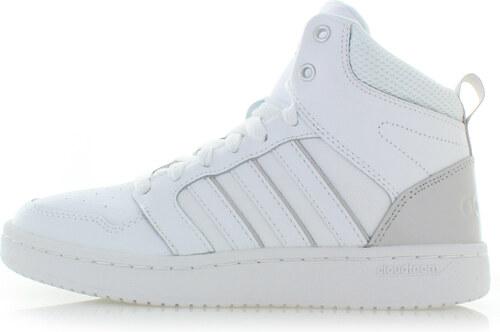 0058d6f5808 -27% adidas CORE Dámské bílé kožené kotníkové tenisky Cloudfoam Superhoops  Mid