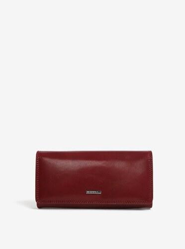 Vínová dámska veľká kožená peňaženka KARA - Glami.sk 47b30c8cb27