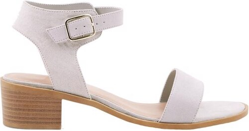 81740e503b25 NEW LOOK Semišové sandálky na nízkom podpätku - Glami.sk