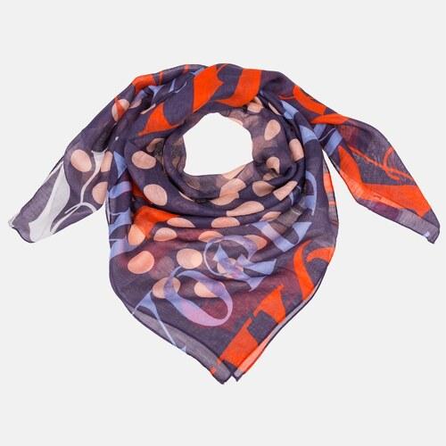 bc76639080f Nádherný dámský šátek Vivienne Westwood fialově červený - Glami.cz