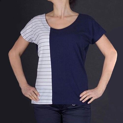044328342761 Armani Jeans Luxusní dvoubarevné dámské tričko Armani L - Glami.cz