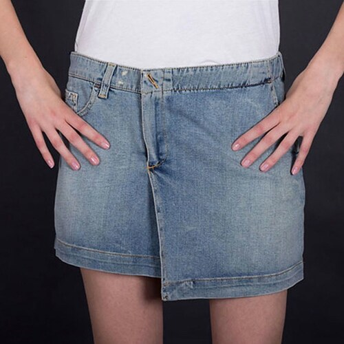 Armani Jeans Dámská riflová sukně Armani modrá L - Glami.cz 7a5146e506