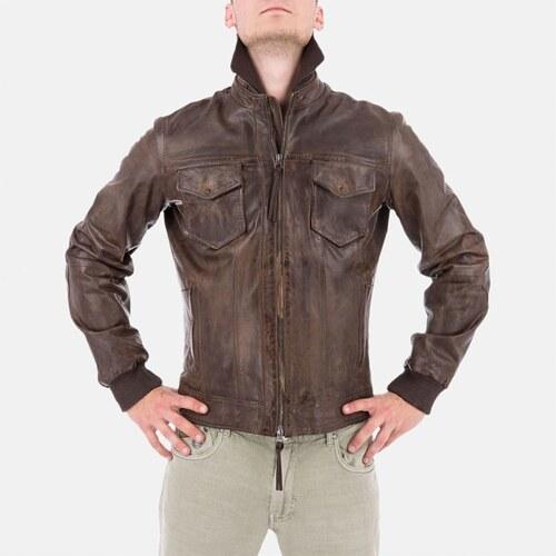 66cf084f72 Armani Jeans Luxusní pánská hnědá kožená bunda Armani - Glami.sk