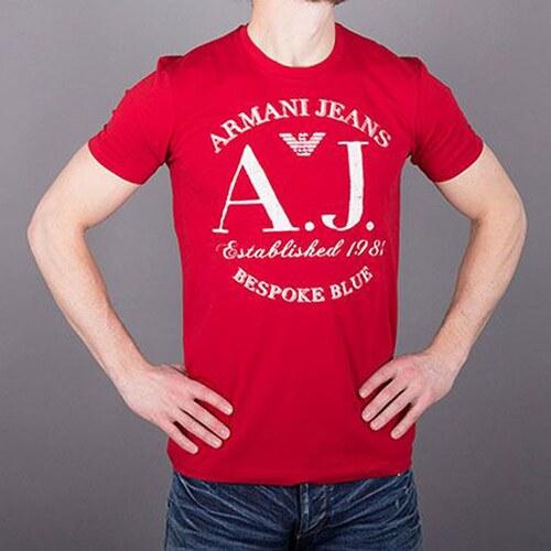 905b79fa7e23 Armani Jeans Značkové pánské tričko AJ červené - Glami.sk