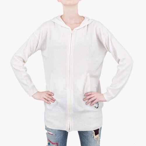 4db1aab7b38 Bílý svetr Armani Jeans S - Glami.cz