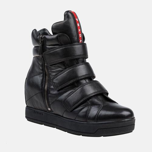Dámské kožené boty PRADA - Glami.sk 102ce5b04fe