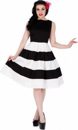 -100 Kč Dámské retro šaty Dolly and Dotty Anna černé s bílou Dolly and Dotty  V332 61470a880c