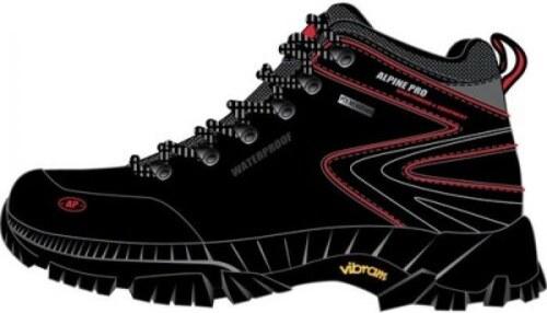 UNI trekkingová obuv Alpine Pro WINDIGO MID PTX - černá - Glami.cz 7660d44753