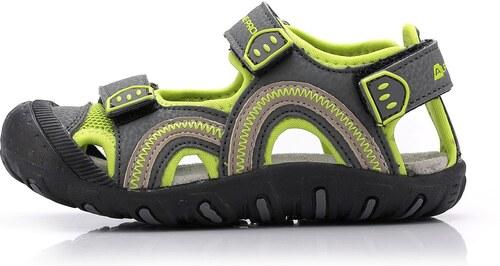 Dětská letní obuv Alpine Pro NIRAJ - zeleno-šedá - Glami.cz c5a0c42c18b