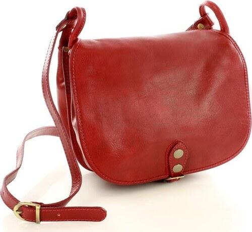 MAZZINI - červená kožená kabelka přes rameno (L86f) - Glami.sk d3d36eb4818