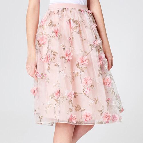 5da0e1d59f1e Mohito - Kvetovaná tylová sukňa little princess - Ružová - Glami.sk