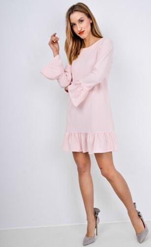 01e7865a27 BASIC Ružové volánové šaty s gombíkmi - 5766 - Glami.sk