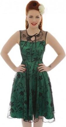 Dámské retro šaty Lindy Bop Frankie zelené Lindy Bop 8226 - Glami.cz 474bdaa8026