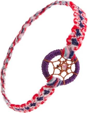 Šperky eshop - Farebný náramok na ruku z mäkkej vlny b76825b449a