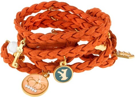 Šperky eshop - Pletený náramok oranžovej farby 7a15d040cf4