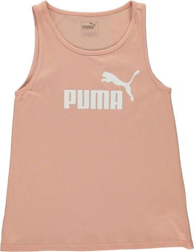 Puma Logo Print Tank Top Junior Girls Peach Beige - Glami.sk 55761380349