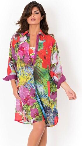 62b0e2a1195b Dámske talianske plážové košeľové šaty David Mare