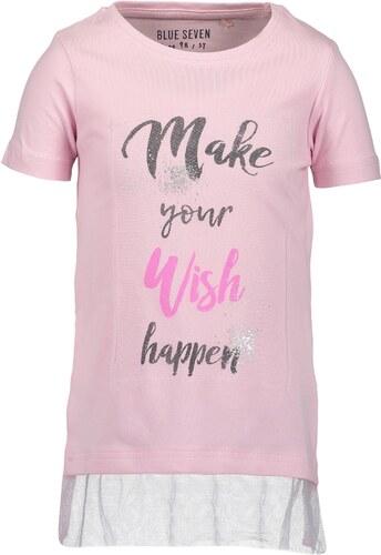 fd82dc5d96a0 Blue Seven Dievčenské tričko s nápisom - ružové - Glami.sk