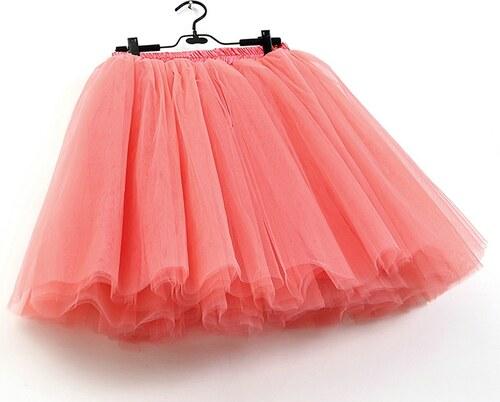 5360dd92a01e ADELO TUTU sukně tylová dámská maxi - KORÁLOVÁ - 100 cm dlouhá ...