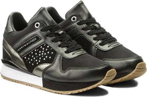 Tommy Hilfiger čierne tenisky Metallic Sneaker Wedge Black - Glami.sk 18edd4f42f