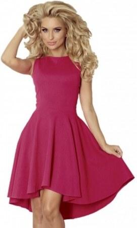 48b0be41090 Luxusní dámské společenské a plesové šaty bez rukávu tmavě malinové NUMOCO  66-31
