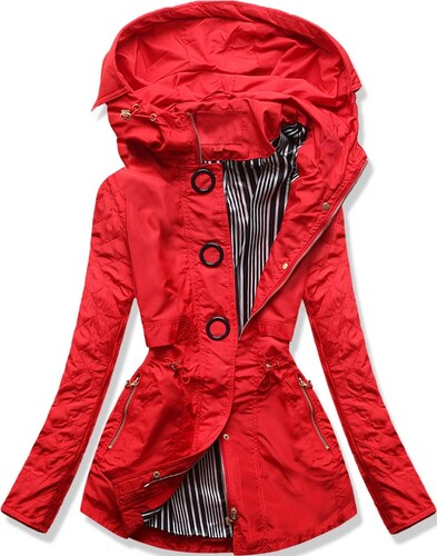 MODOVO Női átmeneti kabát P01B piros - Glami.hu 1652ab9608