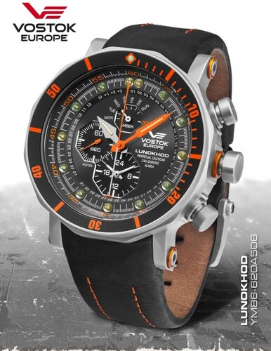 -10% Pánske hodinky Vostok-Europe LUNOCHOD-2 multifunctional line  YM86-620A506 07bcd07b07e