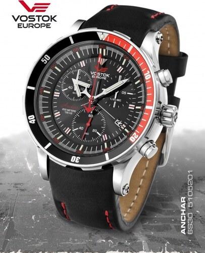 -10% Pánske hodinky Vostok-Europe ANCHAR Submarine chrono line 6S30 5105201 a47b25c5aaf