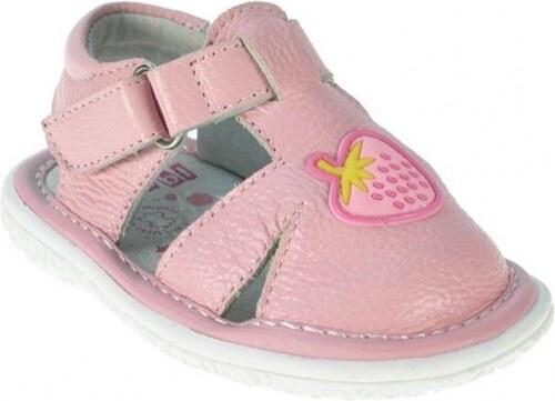 07490338e Beppi Dievčenské kožené sandále s Jahôdkou - ružové - Glami.sk