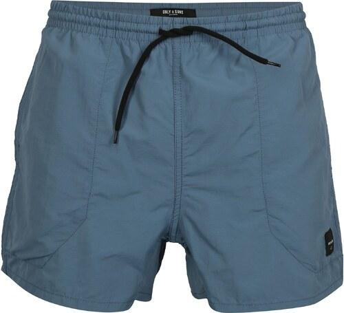 Modré plavky ONLY   SONS Tino - Glami.cz 99b6fee1f9
