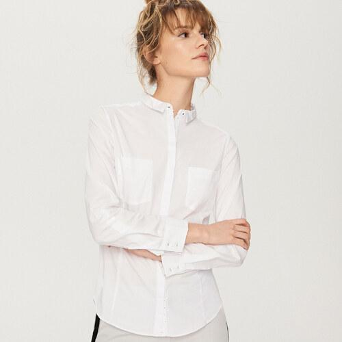 4ddf1eb8a07c Reserved - Elegantná košeľa - Biela - Glami.sk