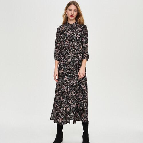 60dee75e1bf3 Sinsay - Kvetované košeľové šaty - Viacfarebn - Glami.sk
