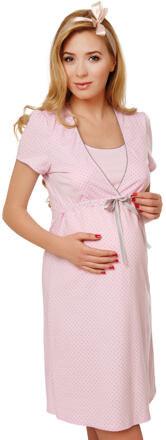 76175962e591 Italian Fashion Bavlnená tehotenská nočná košeľa Felicita ružová ...