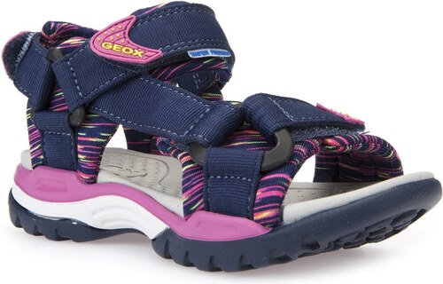 ea2552c4cf79 Geox Dievčenské sandále Borealis - modro-ružové - Glami.sk