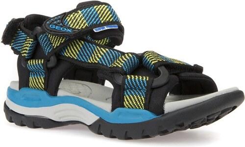 91a1eaadd8d Geox Chlapčenské sandále Borealis - modro-žlté - Glami.sk