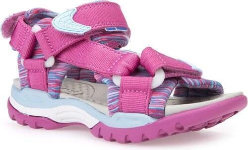 5db56852d71b Geox Dievčenské sandále Borealis - ružové - Glami.sk