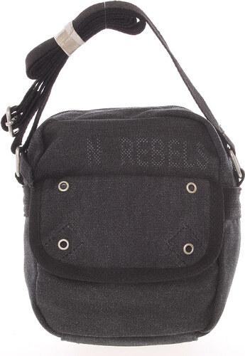 c178e8bcfe Moderná pánska látková čierna kabelka na doklady - New Rebels Conor čierna