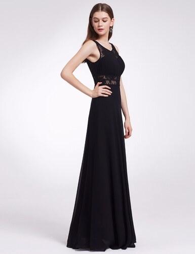 39046b774f6f Ever-Pretty Černé večerní šaty s krajkovým prostřihem - Glami.cz