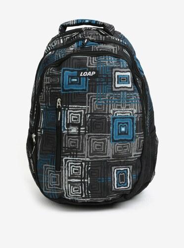 9537b57c62a Černo-modrý vzorovaný batoh LOAP Lian 20 l - Glami.cz